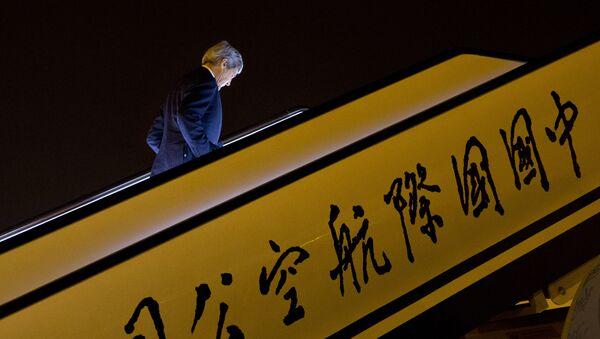 U.S. Secretary of State John Kerry boards his plane as he leaves Beijing to return to Washington, Wednesday, Jan. 27, 2016 - Sputnik International
