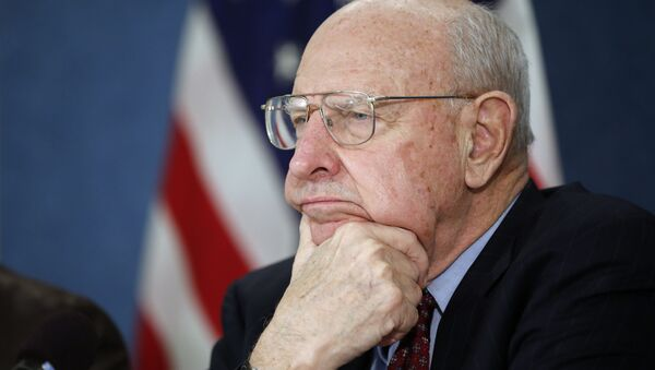 Former ambassador Thomas R. Pickering, listens during a news conference - Sputnik International