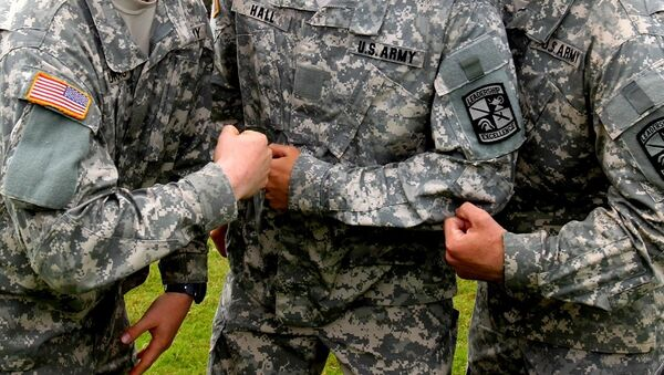 US Army cadets show off their muscles - Sputnik International