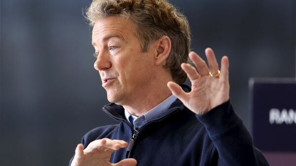 U.S. Republican presidential candidate Senator Rand Paul talks to supporters at a campaign stop at the National Sprint Car Hall of Fame and Museum in Knoxville, Iowa, in this file photo from January 29, 2016 - Sputnik International