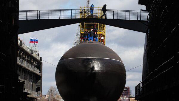 Launching the submarine Krasnodar in St. Petersburg - Sputnik International