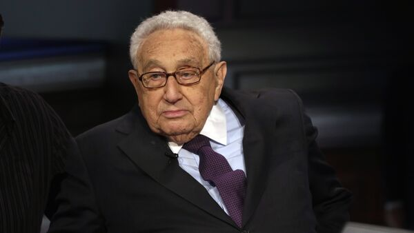 Former U.S. Secretary of State Henry Kissinger is interviewed by Neil Cavuto on his Cavuto Coast to Coast program, on the Fox Business Network, in New York, Friday, June 5, 2015 - Sputnik International
