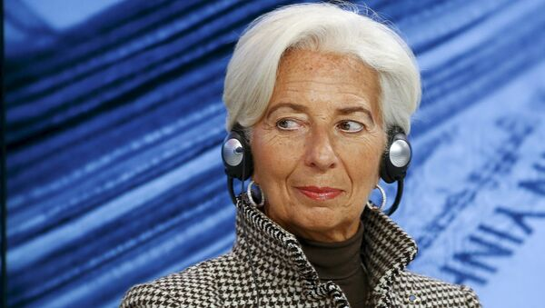 International Monetary Fund (IMF) Managing Director Christine Lagarde attends the session Where Is the Chinese Economy Heading? of the annual meeting of the World Economic Forum (WEF) in Davos, Switzerland in this January 21, 2016 file photo - Sputnik International