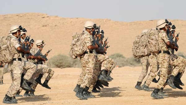 A picture taken June 26, 2011 shows Saudi special forces graduates showing their skills during a ceremony held at their base near the capital Riyadh - Sputnik International