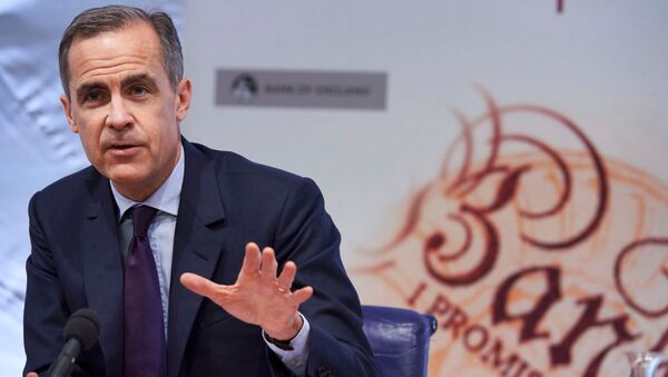 The Governor of the Bank of England, Mark Carney, speaks during the quarterly Inflation Report press conference in central London, February 4, 2016. - Sputnik International