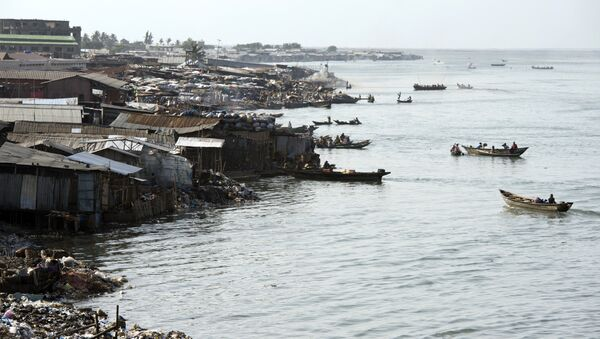 A picture taken on July 1, 2015, shows a general view of the lagoon in Cotonou - Sputnik International