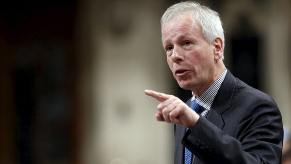 Canada's Foreign Minister Stephane Dion speaks during Question Period in the House of Commons on Parliament Hill in Ottawa, Canada - Sputnik International