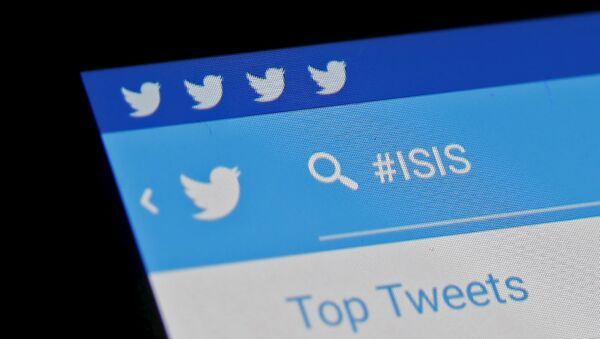 The Islamic State hashtag (#ISIS) is seen typed into the Twitter application on a smartphone in this picture illustration taken in Zenica, Bosnia and Herzegovina, February 6, 2016 - Sputnik International