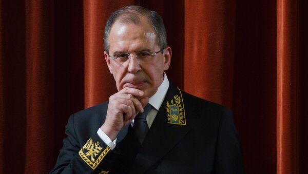 Foreign Minister Sergei Lavrov - Sputnik International