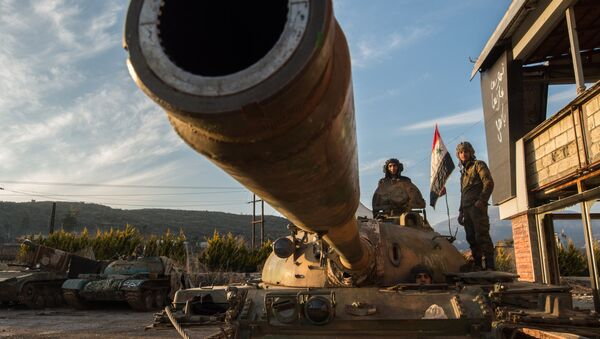 Servicemen of the Syrian Arab Army at the Syrian-Turkish border near the town of Kessab - Sputnik International