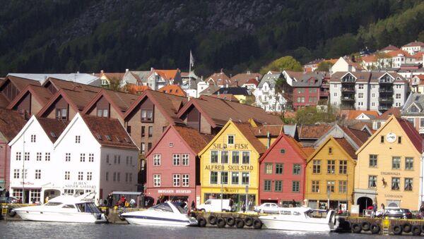 A site of the old Hanseatic League houses in Bergen, Norway. - Sputnik International