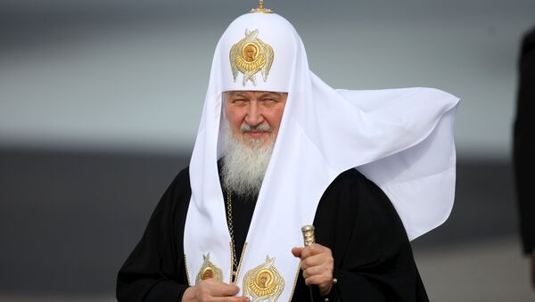 Patriarch Kirill, the head of the Russian Orthodox Church, walks after his arrival at the Jose Marti International Airport in Havana, February 11, 2016 - Sputnik International