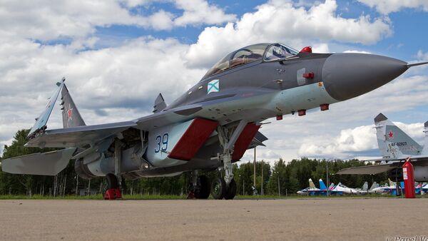 The Mig-29K all-weather carrier-based multirole fighter. - Sputnik International