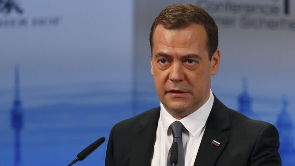 Russian Prime Minister Dmitry Medvedev delivers a speech at the Munich Security Conference in Munich, Germany, February 13, 2016 - Sputnik International