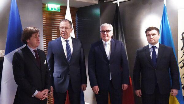Normandy Four ministerial meeting - Sputnik International