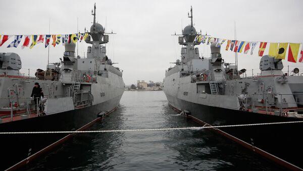 Flags raised at Russian Navy's new ships Zelyony Dol and Serpukhov - Sputnik International