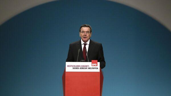 Former German SPD Chancellor Gerhard Schroeder - Sputnik International