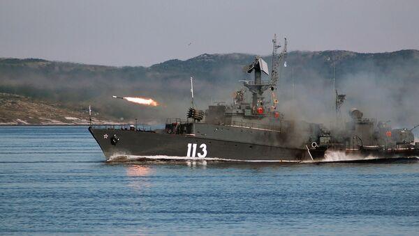 Firing missiles. The Northern Fleet, Severomorsk. - Sputnik International