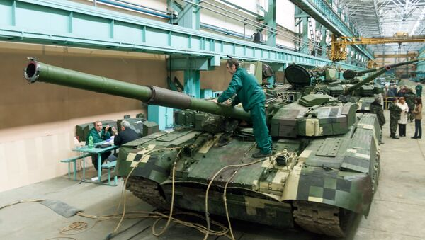 Ukrainian Oplot (Stronghold) battle tanks are intended for delivery to Thailand in a workshop of the Malyshev Plant in Kharkiv on September 8, 2013 - Sputnik International