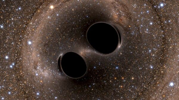 Гравитационные волны, генерируемые двумя черными дырами - Sputnik International