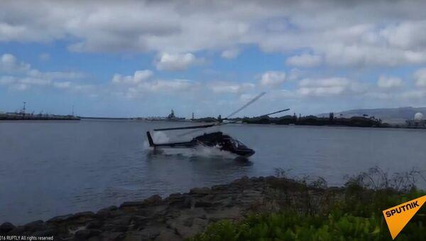 Civilian Helicopter Crashes at Pearl Harbor - Sputnik International
