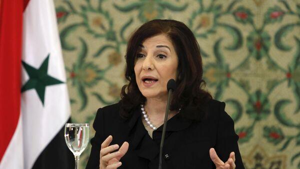 Bouthaina Shaaban, adviser of Syria's President Bashar al-Assad (File) - Sputnik International