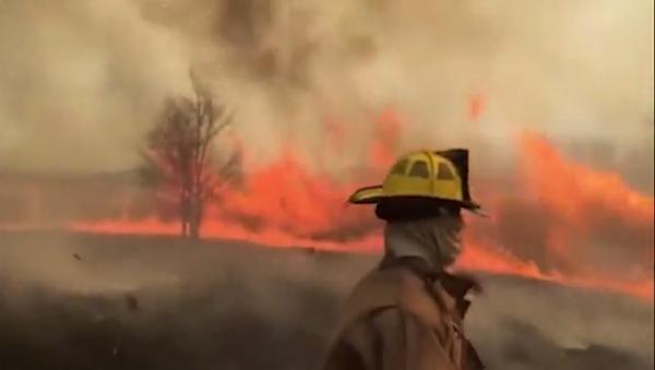 VIDEO: Firefighters battle a 'firenado' in Missouri - Sputnik International