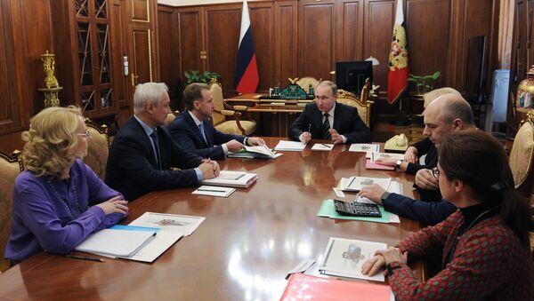 President Vladimir Putin holds meeting in Kremlin - Sputnik International