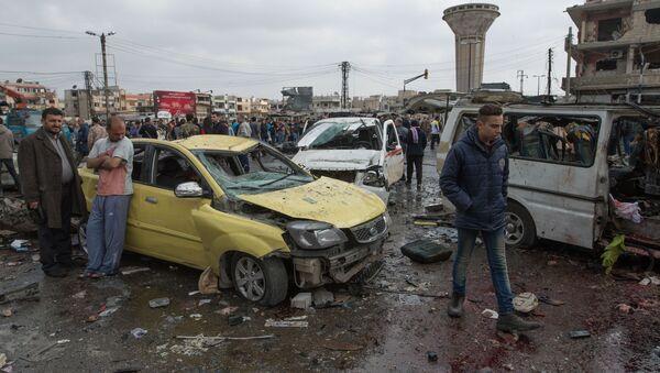 Explosion in the Syrian city of Homs - Sputnik International