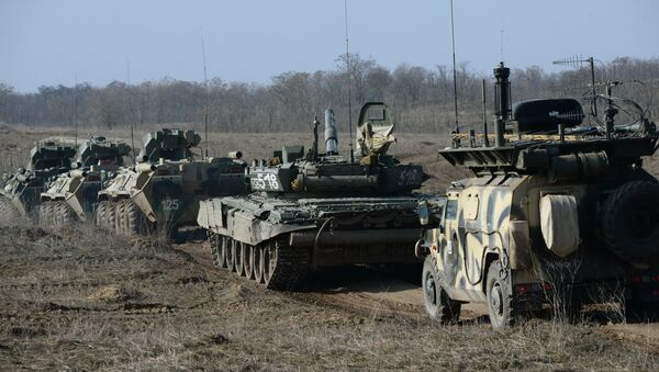 Motorized infantry exercise at Sernovodsky range - Sputnik International