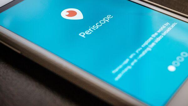 Mobile app Periscope - Sputnik International