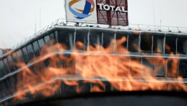 View taken of fire lit by employees of French oil giant Total (File) - Sputnik International