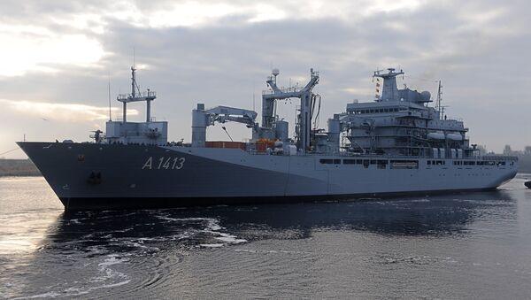 NATO's ship Bonn en route to the Aegean Sea. - Sputnik International