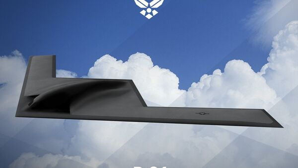 An artist rendering shows the first image of a new Northrop Grumman Corp long-range bomber B21 in this image released on February 26, 2016 - Sputnik International