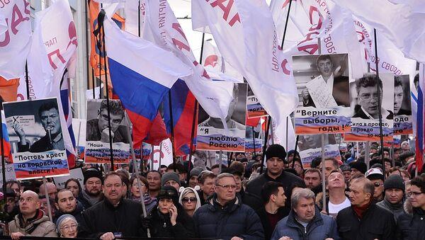 Boris Nemtsov's memory march - Sputnik International