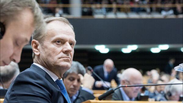Donald Tusk, President of the European Council in the plenary. - Sputnik International