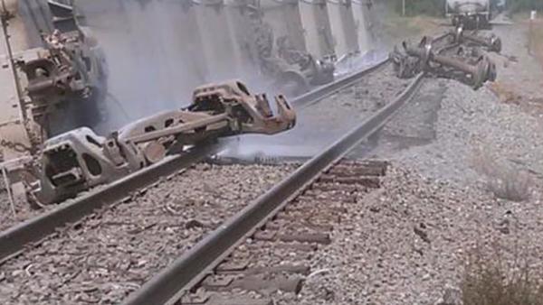Hazardous leak reported as train derails in Ripley, NY - Sputnik International
