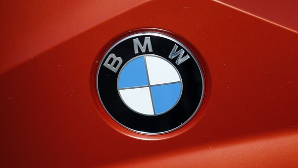 The BMW logo of a motorcycle in a showroom in London, Thursday, March 3, 2016. - Sputnik International