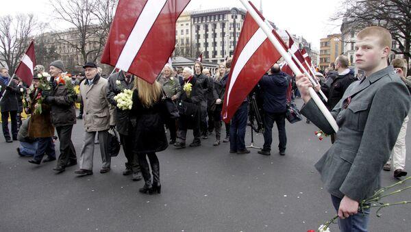 Waffen-SS veterans march in Riga. File photo - Sputnik International
