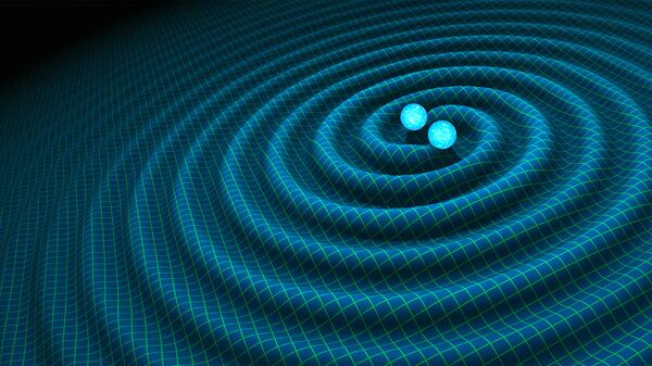 An artist's impression of gravitational waves generated by binary neutron stars - Sputnik International
