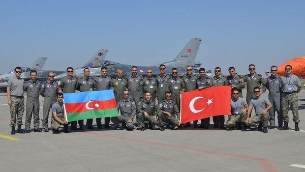 Turkey and Azerbaijan joined air force drills. File photo - Sputnik International