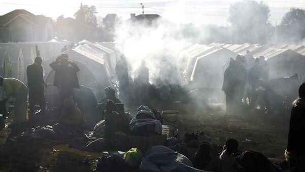 An informal refugee camp (File) - Sputnik International