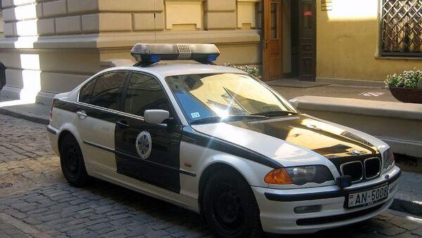 Latvian security  service   police  car - Sputnik International