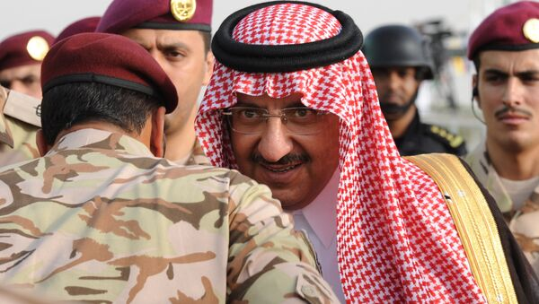 Saudi Crown Prince and Interior Minister Prince Mohammed bin Nayef bin Abdulaziz arrives to attend a graduation ceremony of members of Saudi Special Forces in the capital Riyadh, on May 19, 2015. - Sputnik International
