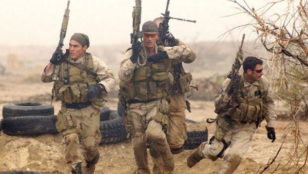 Navy SEALs during desert training - Sputnik International