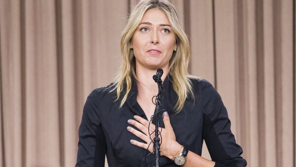 Russian tennis player Maria Sharapova speaks at a press conference in downtown Los Angeles, California, March 7, 2016 - Sputnik International