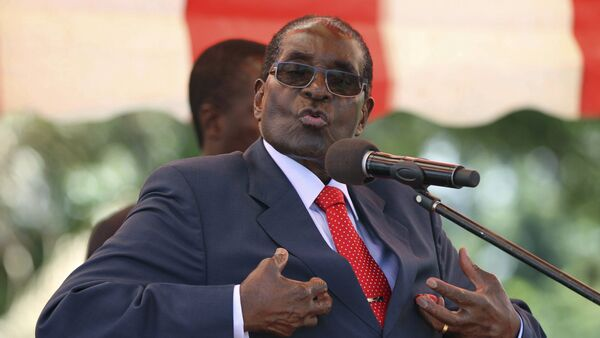 Zimbabwe's President Robert Mugabe addresses the ZANU-PF party's top decision-making body, the Politburo, in the capital Harare, in this February 10, 2016 file photo - Sputnik International