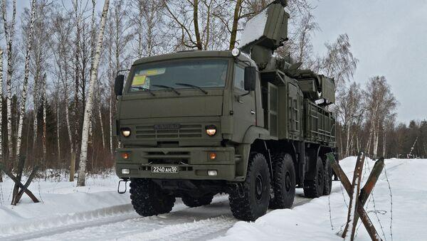 The Pantsir-S1 short-to-medium range gun-missile system on the march - Sputnik International