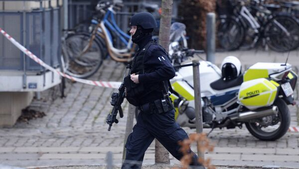 An armed security officer.Copenhagen (File) - Sputnik International