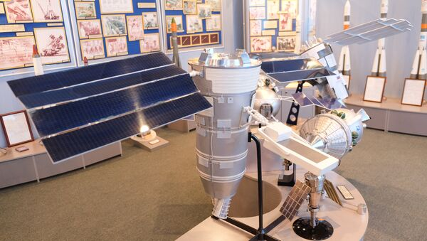 A model of the Resurs-P space probe. The originals were launched to space in 2013 and 2014 - Sputnik International